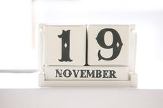 A simple date block can be re-used later, it now sits in our daughter's bedroom with her birth date on display #love #weddings #dateblock #weddingday