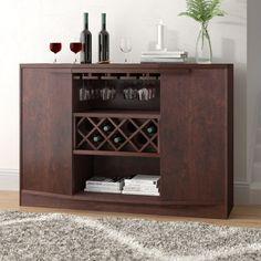 Xanthene Bar with Wine Storage Built In Wine Rack, Wine Rack Storage, Home Bar Cabinet, Liquor Cabinet, Bar Storage Cabinet, Wine Glass Rack, Wine Cabinets, Kare Design, Bar Furniture