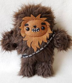 Chewbacca plush toy - looks easy to make. Might give it a shot.