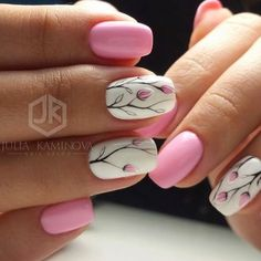 Nail art is a very popular trend these days and every woman you meet seems to have beautiful nails. It used to be that women would just go get a manicure or pedicure to get their nails trimmed and shaped with just a few coats of plain nail polish. Spring Nail Art, Nail Designs Spring, Cute Nail Designs, Spring Nails, Summer Nails, Nail Art Flowers Designs, Autumn Nails, Fancy Nails, Diy Nails