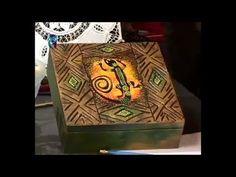 ▶ Карвинг (резьба по шпаклевке). Делаем шкатулку в этническом стиле и вешалку с фруктами. Мастер класс - YouTube