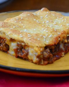 Sloppy Joe Casserole. I have made this twice now. My family LOVES this! I didn't add the sesame seeds because I didn't have any. Definitely a favorite at the Laton household!