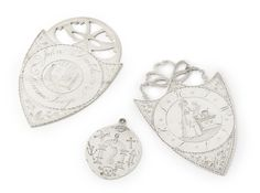 THREE AMERICAN SILVER MASONIC BADGES, CIRCA 1780-1800 | Lot | Sotheby's
