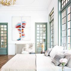 Painted Windows Perfect For Spring - Painted Window Frames That Pop - Photos