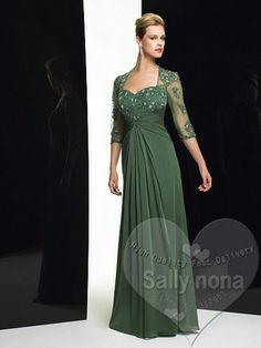 olive colored bras | Hot Sale Sexy Dark Olive Green Chiffon Floor Length With Jacket Mother ...