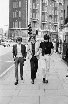 Music ©: (Left to right) Bill Wyman, Mick Jagger and Keith Richards of English rock group 'The Rolling Stones', London, The Rolling Stones, Keith Richards, Mick Jagger, Terry O Neill, Charlie Watts, Recital, A Saucerful Of Secrets, El Rock And Roll, Bill Wyman