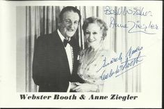 Webster Booth and Anne Ziegler signed 6 x 4 promotional b/w photo. The Saleroom, Catalogue, Promotion, Conditioner, Auction, British, Signs, History, Life