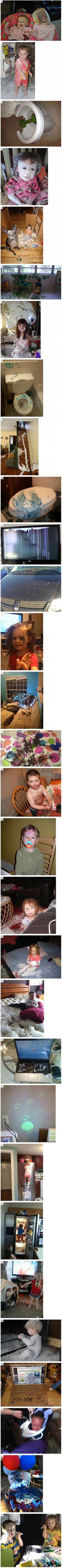Angelitos desastrosos – diabluras de niños