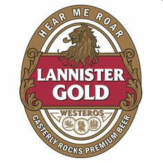 Game of Thrones inspired beer labels  Lannister Gold