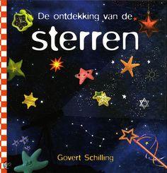 De ontdekking van de sterren door Govert Schilling (2012). Kleurrijk vierkant boek met informatie over het ontstaan en verdwijnen van sterren; kenmerken van sterren (kleur, grootte, gewicht, samenstelling, afstand); sterrenstelsels; sterrenbeelden; meteorieten; supernova's en nog meer.