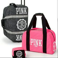 f4298e1c6 Vs Pink 3 Pc Luggage Set Pink Suitcase