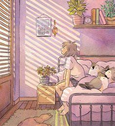 50 ideas for cute bird drawing illustration simple Aesthetic Anime, Aesthetic Art, Pretty Art, Cute Art, Arte Do Kawaii, Character Art, Character Design, Anime Scenery, Anime Art Girl
