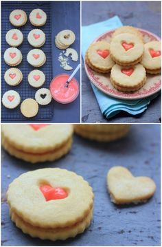 Strawberry Lemon Curd and Old Fashioned Shortbread Cookies | www.bakerbettie.com
