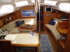 Hunter 44 Deck Salon sailboat