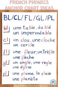 Phonics Anchor Charts in French - For French Immersion French Language Lessons, French Lessons, Spanish Lessons, Spanish Language, German Language, French Teaching Resources, Teaching French, Guided Reading, Teaching Reading