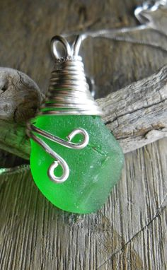 Sea Glass Necklace Beach Glass Jewelry by SeaFindDesigns on Etsy