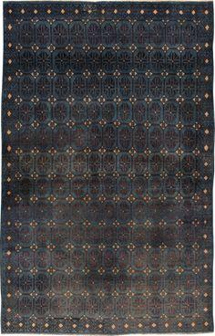 Vintage Kashan Rug, No.22299 - Galerie Shabab