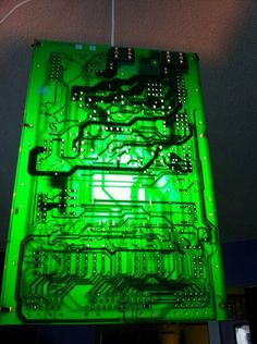 How To: Make Geektastic Pendant Lights from Circuit Boards | Man Made DIY | Crafts for Men | Keywords: circuit, ikea, technology, geek