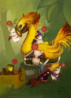 Week 14- Final Fantasy XIV - Fan Art Wed - Landale Ffxiv Chocobocontest by ~Landale on deviantART