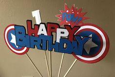 Captain America Birthday Cake, Captain America Party, Captin America, Superman Birthday, Avengers Birthday, Superhero Birthday Party, Boy Birthday, Birthday Cupcakes, Birthday Ideas