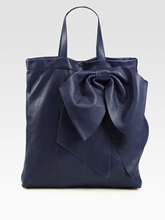 valentino bow tote bag - love this.  color, texture, bow, all of it!