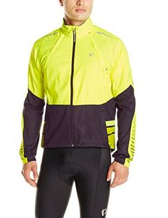 Pearl Izumi Men's Elite Barrier Convertible Jacket, Small, Screaming Yellow/Black - http://ridingjerseys.com/pearl-izumi-mens-elite-barrier-convertible-jacket-small-screaming-yellowblack/