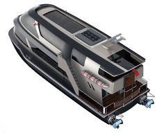 Taxea Sea Taxi: Modern Sea Transportation Concept for Istanbul Bosphorus Camper Boat, Transportation Unit, Flying Dutchman, Double Deck, Yacht Design, Catamaran, Water Crafts, Istanbul, Sailing