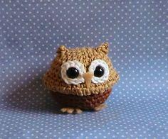 Mini owl amigurumi PDF crochet pattern by AmigurumiBarmy on Etsy Crochet Birds, Crochet Buttons, Crochet Animals, Crochet For Kids, Knit Crochet, Owl Crafts, Cute Little Things, Cute Creatures, Crochet Basics