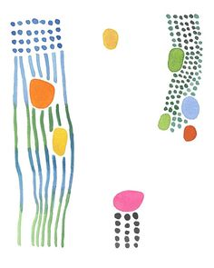 Set of 3 Abstract Watercolor Prints Gallery Wall Nursery Room