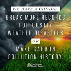 Soooo... what'll it be, folks? Thanks to Climate Reality for the image!