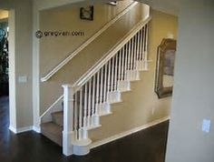 Image result for White Stair Railing