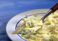 Ravioli con formaggio di capra e basilico -ricette Cooking chef Kenwood