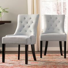 Grandview Side Upholstered Dining Chair (Set of Farmhouse Dining Chairs, Solid Wood Dining Chairs, Upholstered Dining Chairs, Dining Chair Set, Dining Room Furniture, Kitchen Dining, Rattan Chairs, Furniture Decor, Dining Table