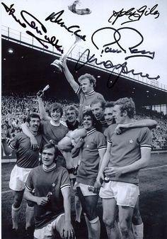 Leeds united celebra la victoria en la Copa de Ferias de 1971, antigua Copa UEFA