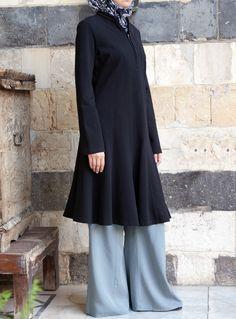 SHUKR USA | Flared Cotton Jersey Tunic