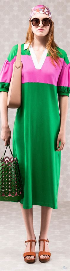 740a1eee07 Pink And Green, Colour Block, Color Blocking, Fashion Brands, 2 Colours,  Mousse, Kate Spade, Women Wear, Walkways