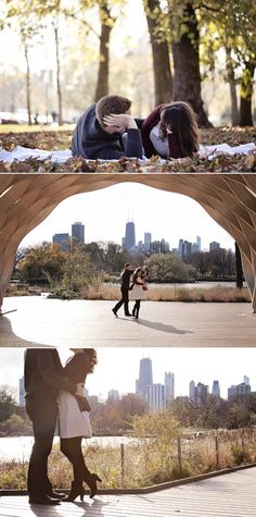 Engagement @ Lincoln Park: Love these bottom two!