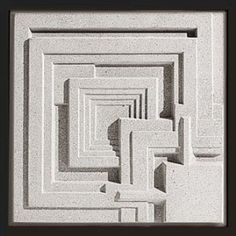 """The Frank Lloyd Wright Ennis House Cast Stone Wall Panel is adapted from the """"California Textile Block"""" patterns for his cast concrete construction blocks. Harlem Renaissance, Organic Architecture, Art And Architecture, Ennis House, Stone Wall Panels, House Cast, Frank Lloyd Wright Homes, Concrete Art, House Tiles"""