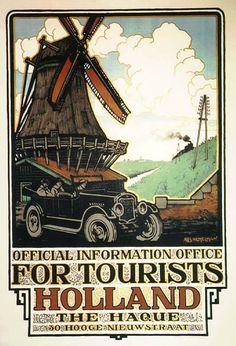 For Tourists Holland - Dutch Tourist Office by Hemelman, Albert   Shop original vintage #posters online: www.internationalposter.com.