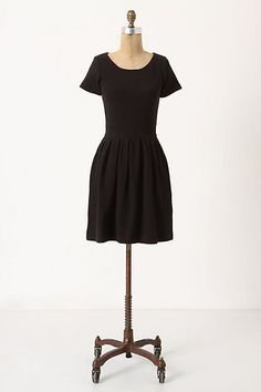 Embossed Basket Dress in Black