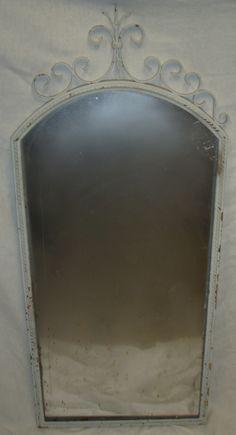 White Filigree Top Mirror (throne room)