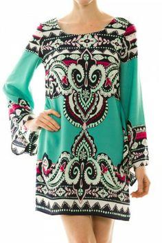 Bell Sleeve Dress www.dresscodestyle.net