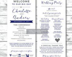 wedding ceremony program love hearts wedding programs