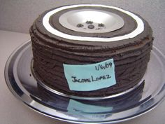 It's a tire. Cake with buttercream
