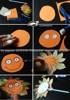 let´s do this one Autumn Crafts, Autumn Art, Nature Crafts, Autumn Leaves, Diy And Crafts, Crafts For Kids, Arts And Crafts, Autumn Activities, Craft Activities