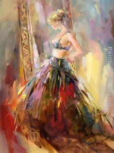 Anna Razumovskaya ~  Black Gown Painting