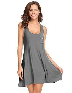 38f57b84cc3 Ekouaer Sleepwear Womens Chemise Nightgown Full Slip Lounge Dress Sexy  Lingerie 696579560641 eBay Chemise