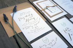 Wedding Invitations - Garden No. Elegant typographic design, single colour, ribbon and swing tag detail. Garden Wedding Invitations, Wedding Invitation Templates, Wedding Stationery, Paper Store, Swing Tags, Typographic Design, Thank You Cards, Your Cards, Ribbon