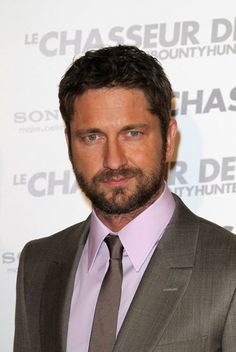 Wanted to repin for my sissy, Missy Sanders-Abbott  Hottie of the Day - Gerard Butler