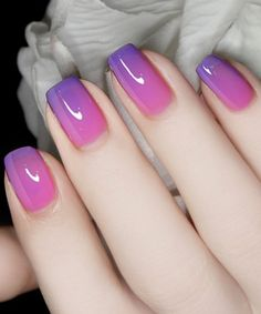 Charming Purple to Pink Nail Art Designs